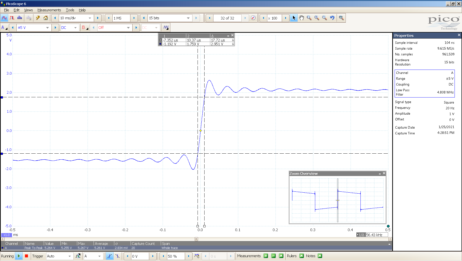 01 20210125 dac2541 20 Hz square 3682mVpp 100uS div 5MHz filter AES SE Lin BW calc.png