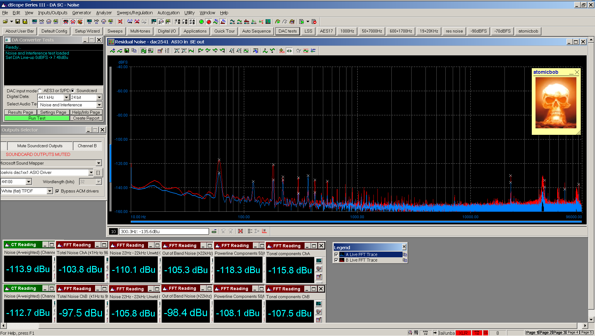 06 20210125 dac2541 residual noise FFT USB SE - 160 dB range.png