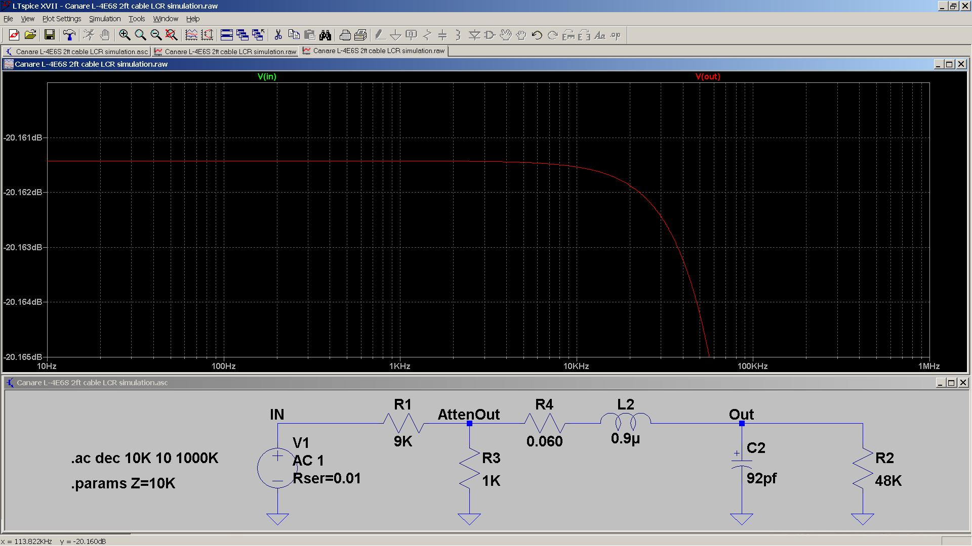 13 20190106 SA2X Canare L-4E6S 2ft Liquid Platinum load - 20 dB attenuation - zoom.png