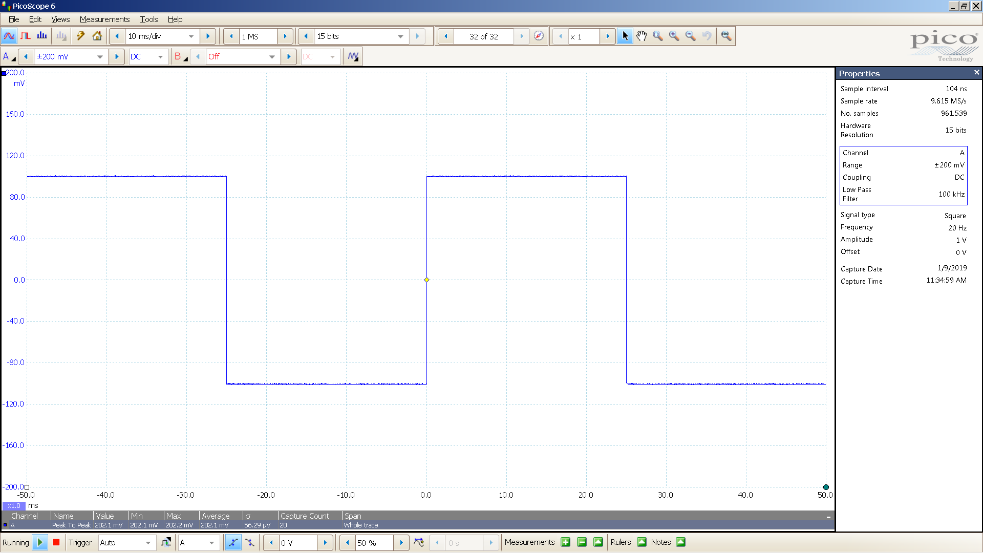 20 20190109 SigGen NS-05P 20 Hz square 2000mVpp input 20 dB atten 10mS div 100KHz filter.png