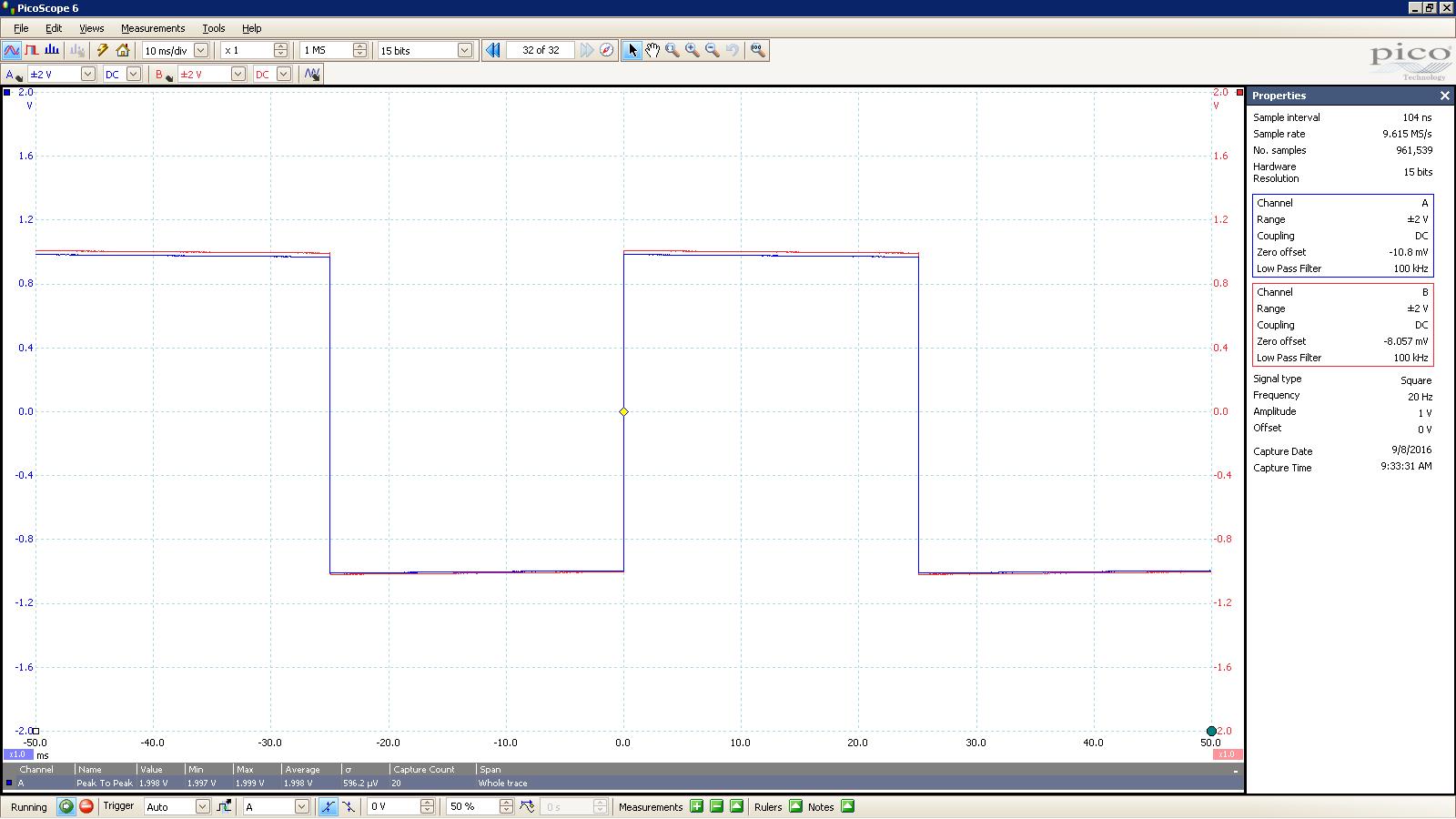 20160908 SigGen Jotunheim 20 Hz square 2000mVpp 10mS div 100KHz filter 300R Balanced.PNG