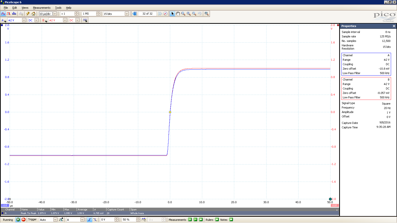 20160908 SigGen Jotunheim 20 Hz square 2000mVpp 10uS div 500KHz filter 300R Balanced.PNG