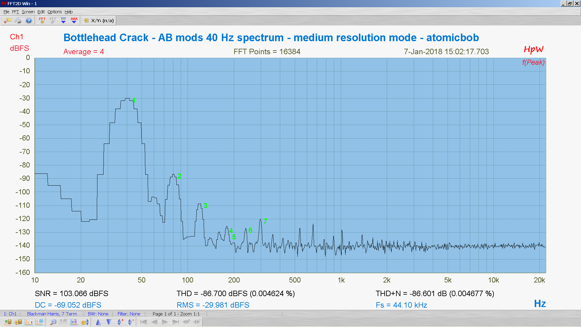 20180107-21 BH Crack e80cc 5998 40 Hz THD THD+N 16K FFT- ASIO -30 dBFS - HpW.PNG