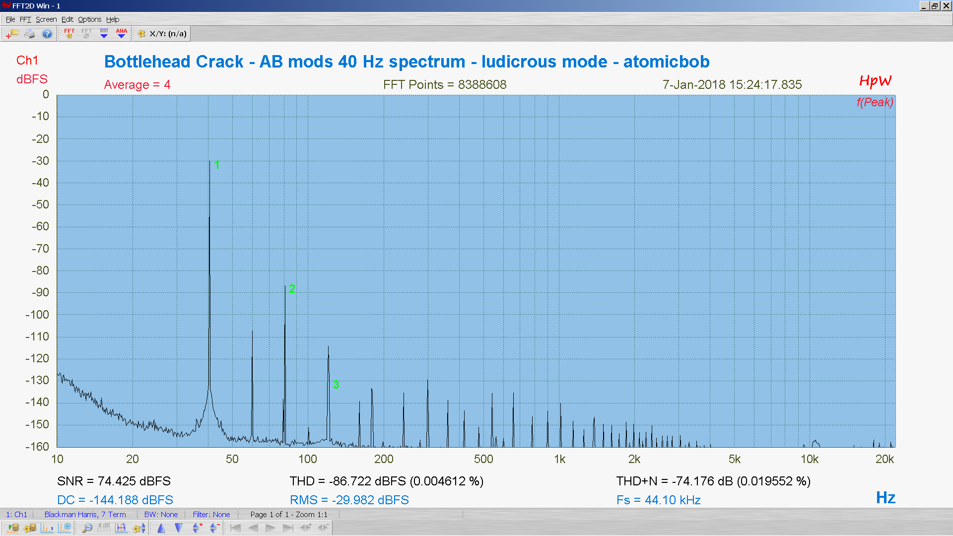 20180107-25 BH Crack e80cc 5998 40 Hz THD THD+N 8M FFT- ASIO -30 dBFS - HpW.PNG