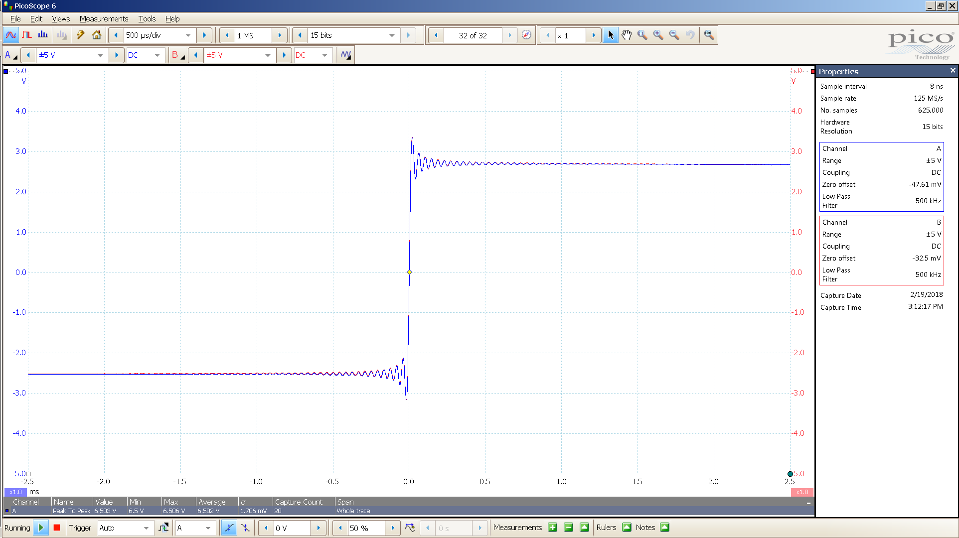 20180219-23 Yggdrasil SE 20 Hz sqr -1 dBFS 6 Vpp 100uS div 500KHz BW - spdif .PNG