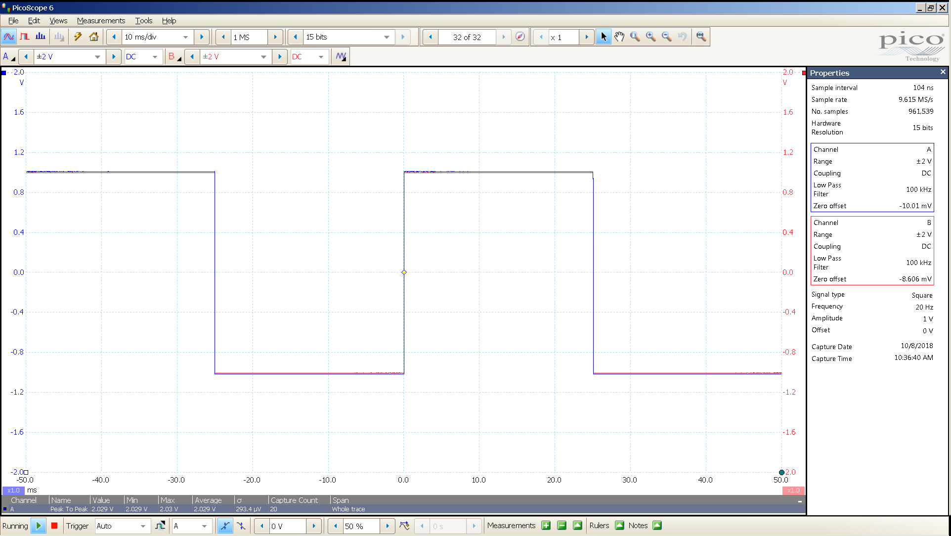 20181008 SigGen magni 3 20 Hz square 2000mVpp 10mS div 100KHz filter 300R.png