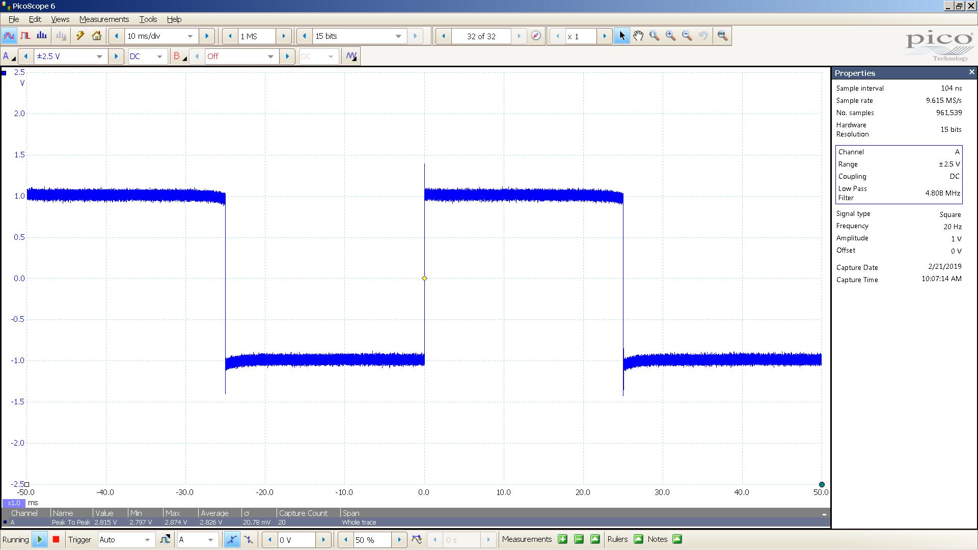 20190221 SigGen DSHA-3F 20 Hz square 2000mVpp 10mS div 5MHz filter 30R.png