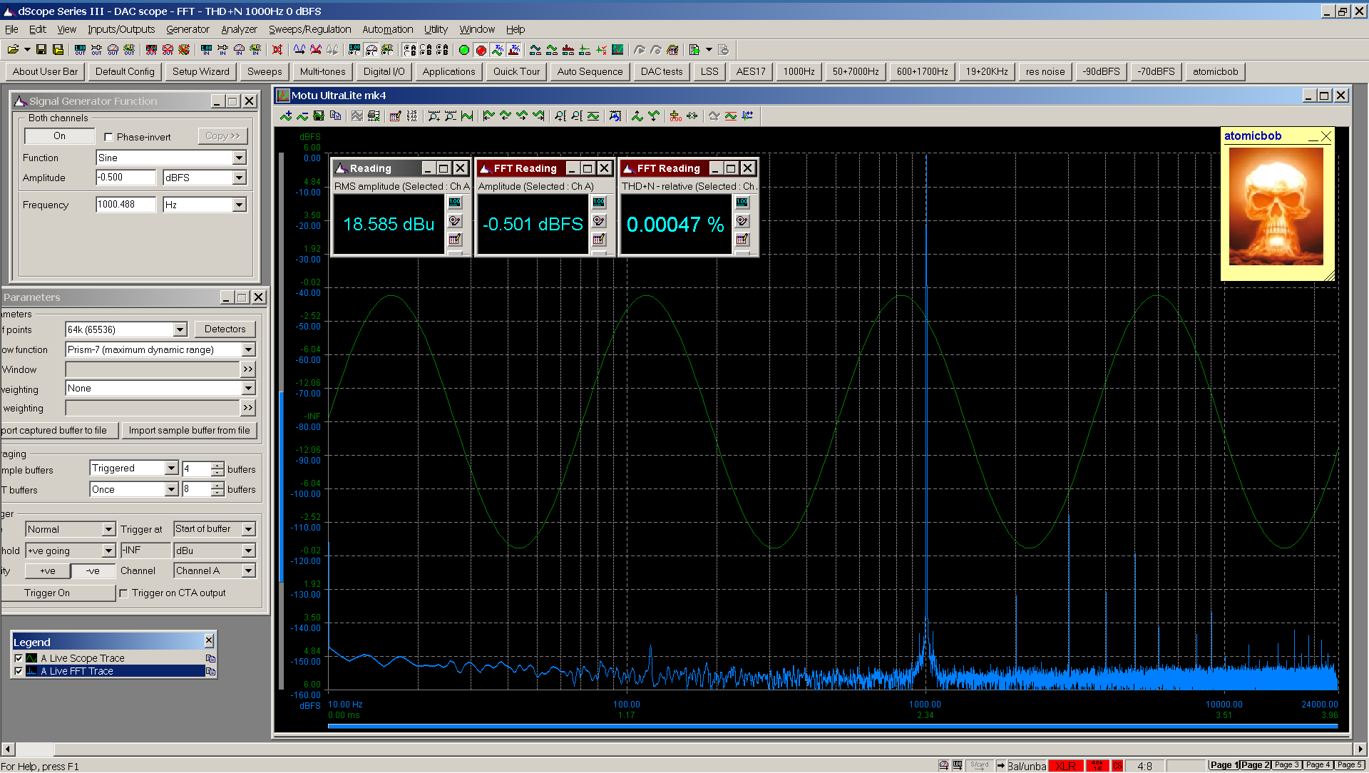 20200531-03 UltraLite-mk4 THD+N FFT -0_5 dBFS - spdif Bal.png