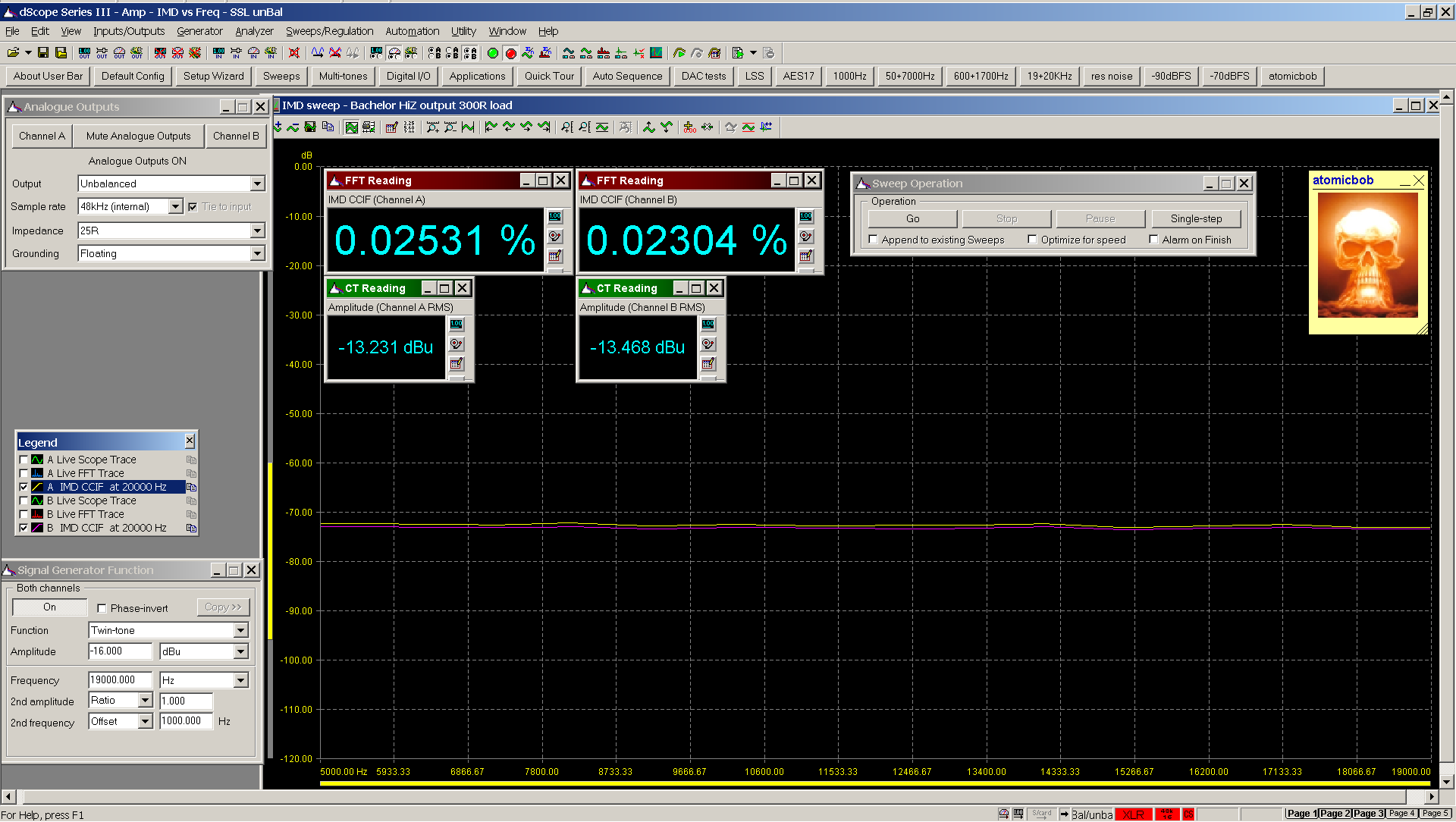 20200622 Bachelor 6z1p 19+20KHz IMD sweep 20KHz to 5KHz 300R HiZ 0dB gain.png