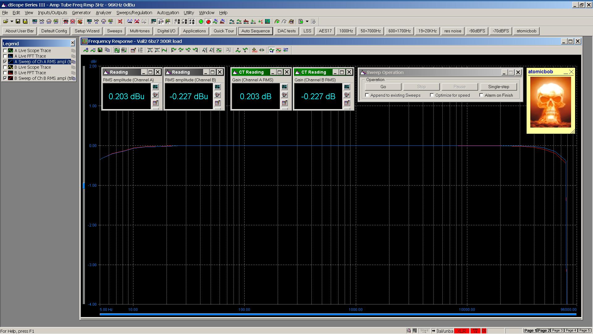20201125 Vali2 6bz7 frequency response 5Hz - 96KHz 300R 0dBu.png