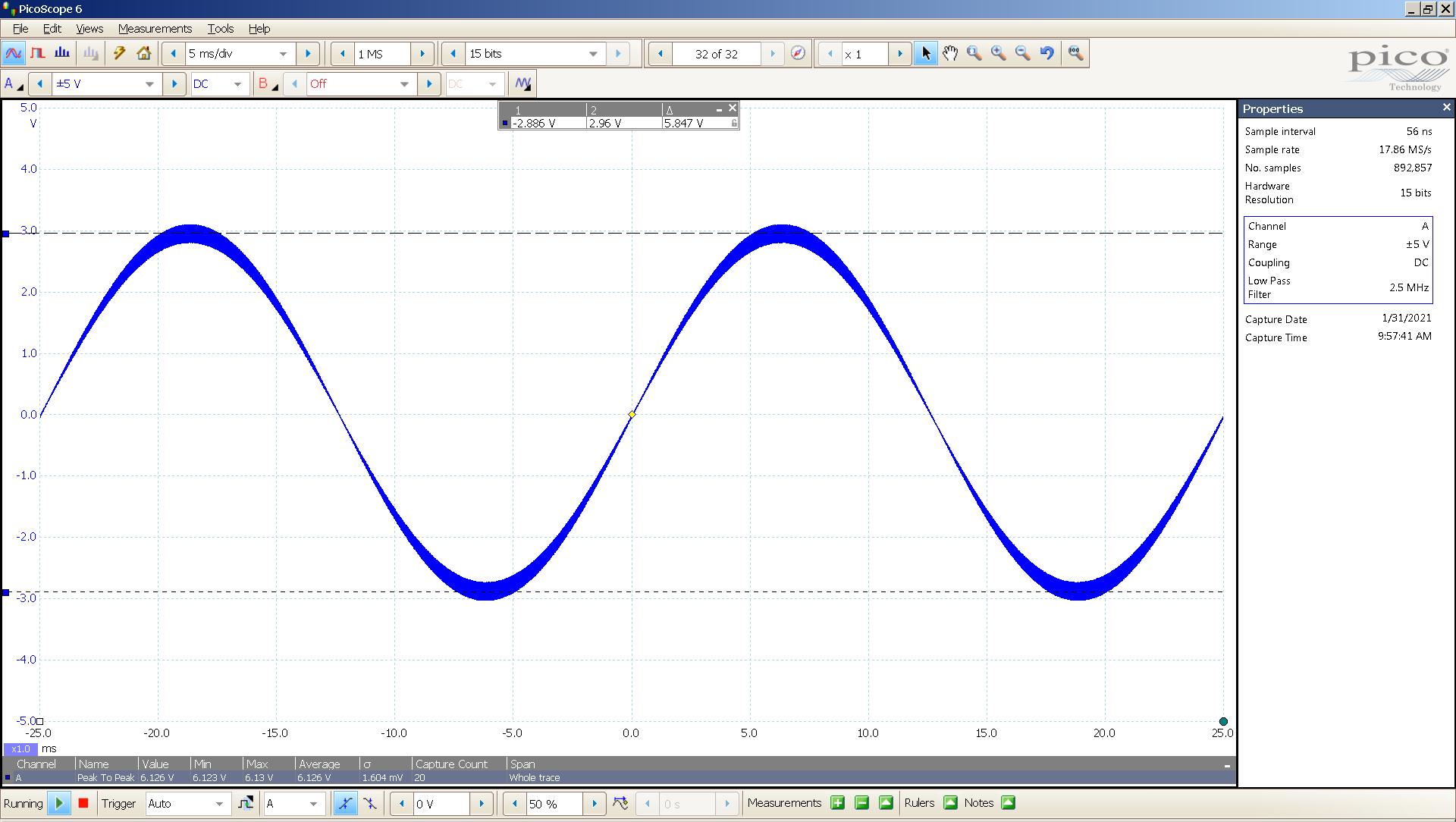 20210131-04 dac2541 40 Hz sine 5847mVpp 5mS div 5MHz filter AES SE Slow.png
