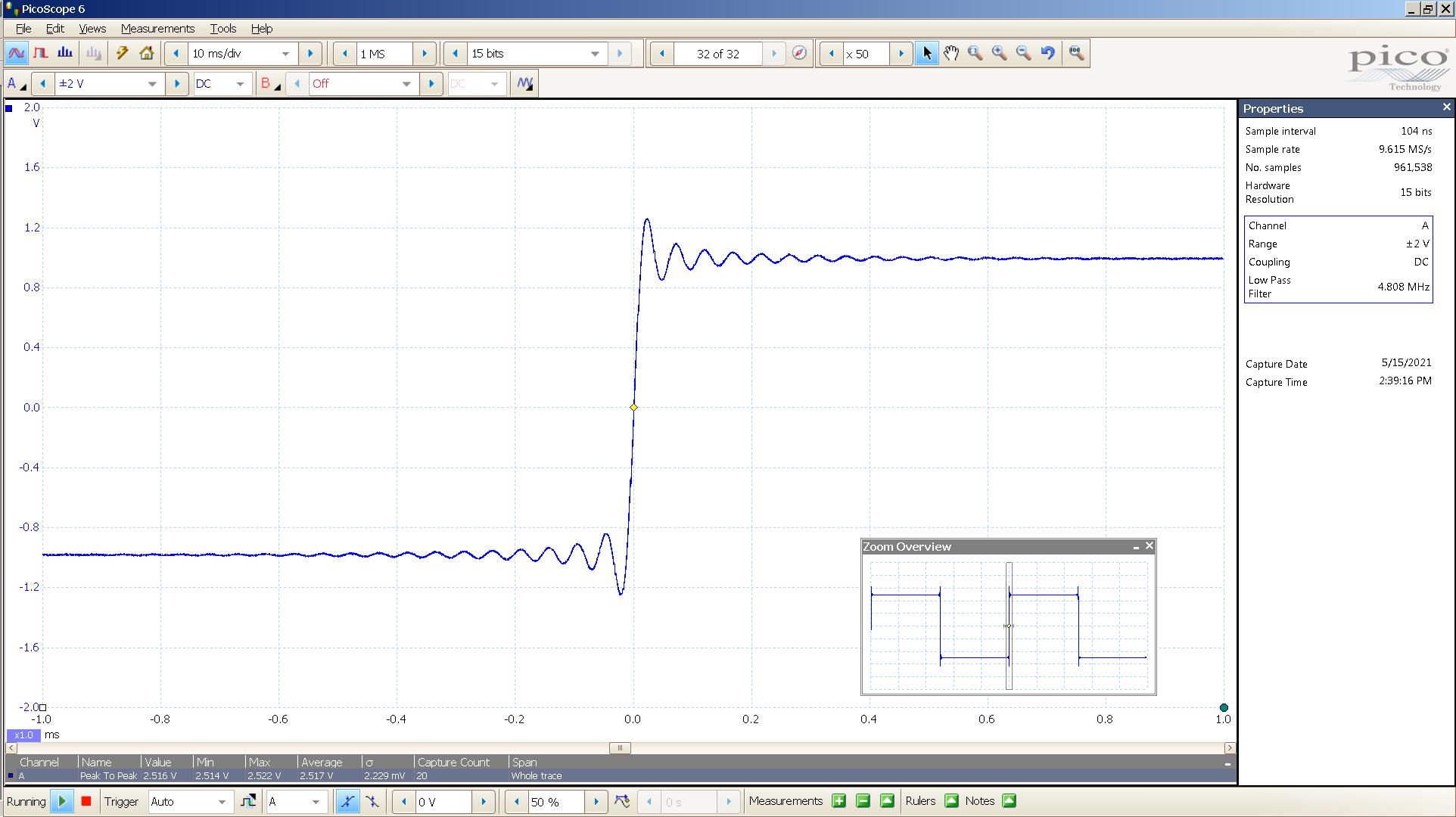 20210515 SigGen Spring2  20 Hz square 2000mVpp 200nS div 5MHz filter AES 44K SE - Lin.png