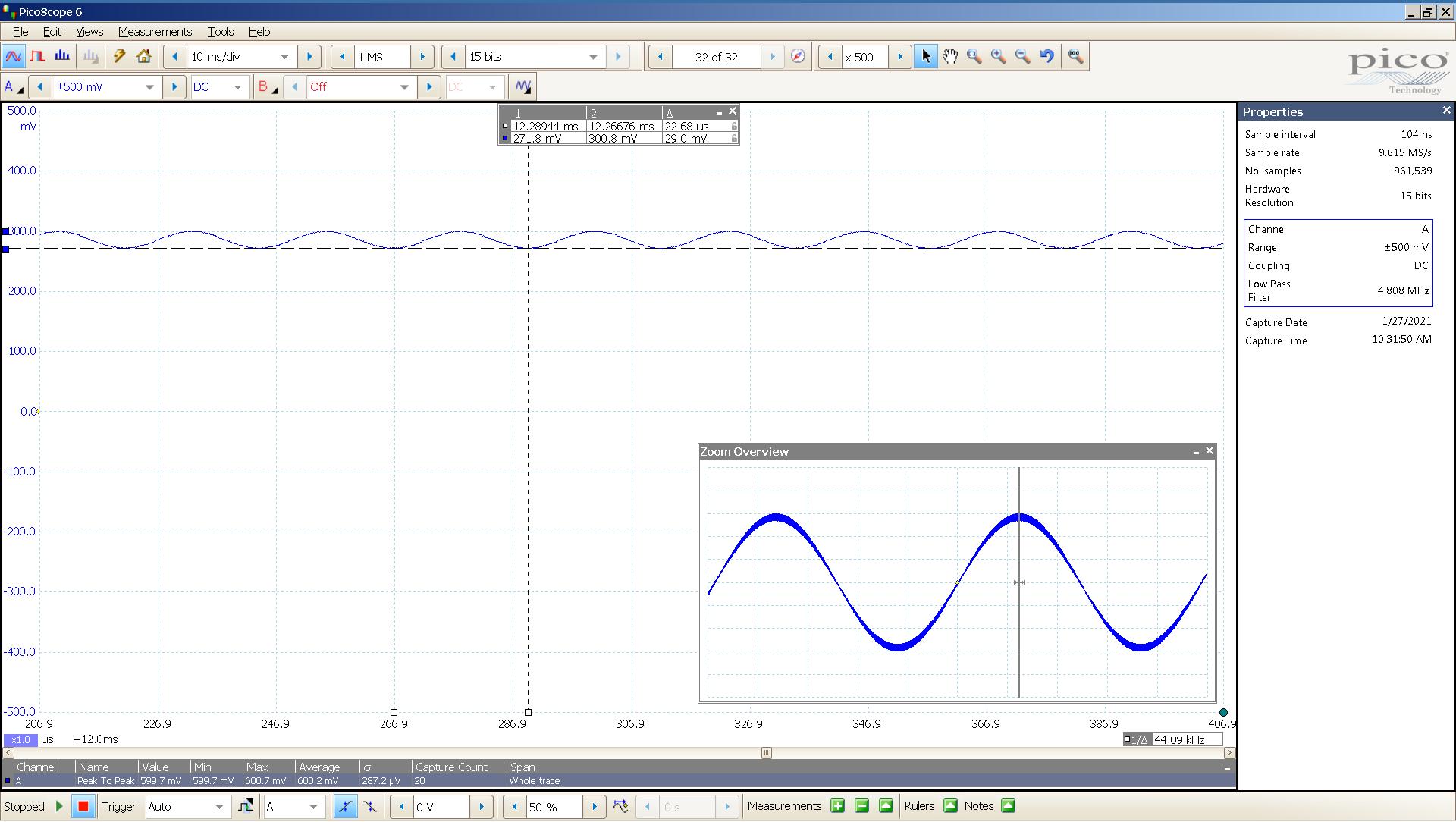 23 20210127 dac2541 20 Hz sine 570mVpp 20uS div 5MHz filter USB SE Slow BW calc.png